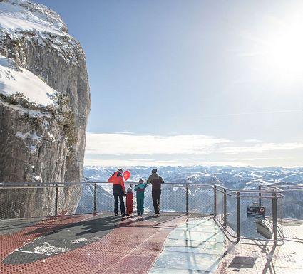 Das Skigebiet Steinplatte Waidring Tirol